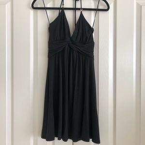 Express halter black dress